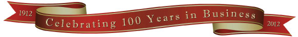 celebrating 100 years of business ribbon